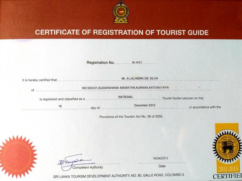 Sri Lanka Guide Certificate